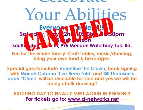 Celebrate Your Abilities on May 22 has been canceled